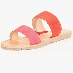 Chelsea Crew sinister suede color block sandals
